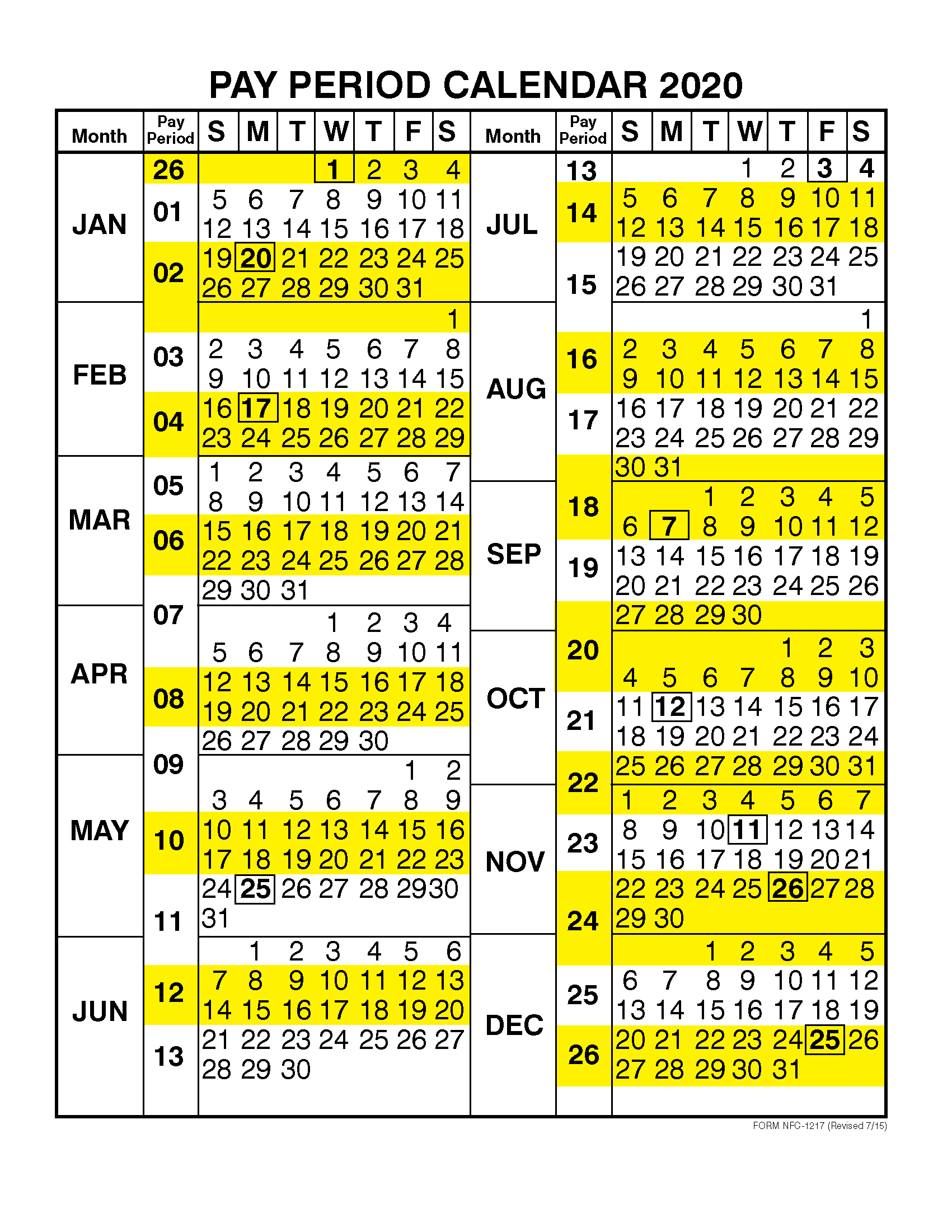 CSULB Payroll Calendar 2020 | 2021 Pay Periods Calendar