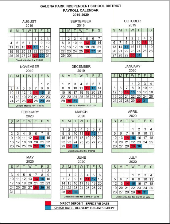 Galena Park Isd Calendar 2021-2022 Background